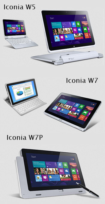 Iconia PC Tablet dengan Windows 8 W Series