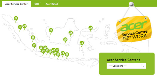 Service Center Acer Indonesia (sumber www.acerid.com)